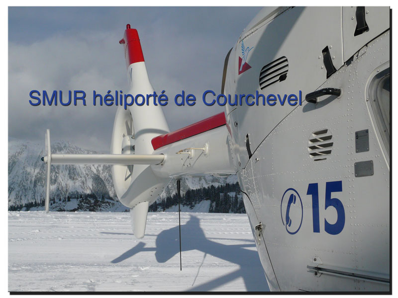 SMUR heliporte de Courchevel